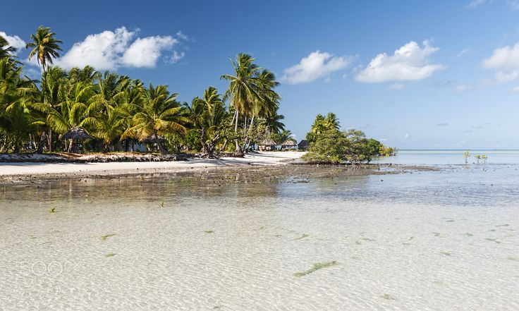 Beach on Tarawa, Kiribati