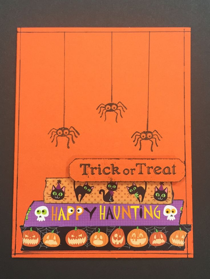 Halloween Card Spiders www.barbaramichelle.com: