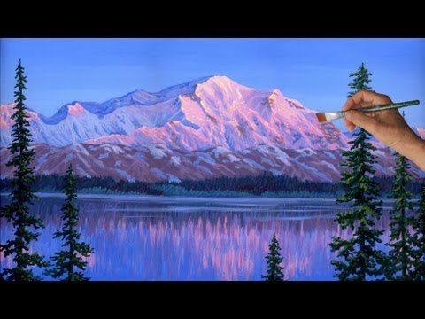 Painting Mountain Glaciers Complete Lesson Acrylic Paint How to