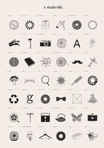 Graphic Tribute To The Designer's Life