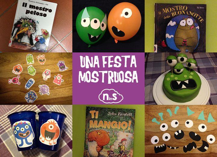 Idee, giochi e letture (più un pdf stampabile con i mostri segnabicchieri) per una festa di compleanno mostruosa.