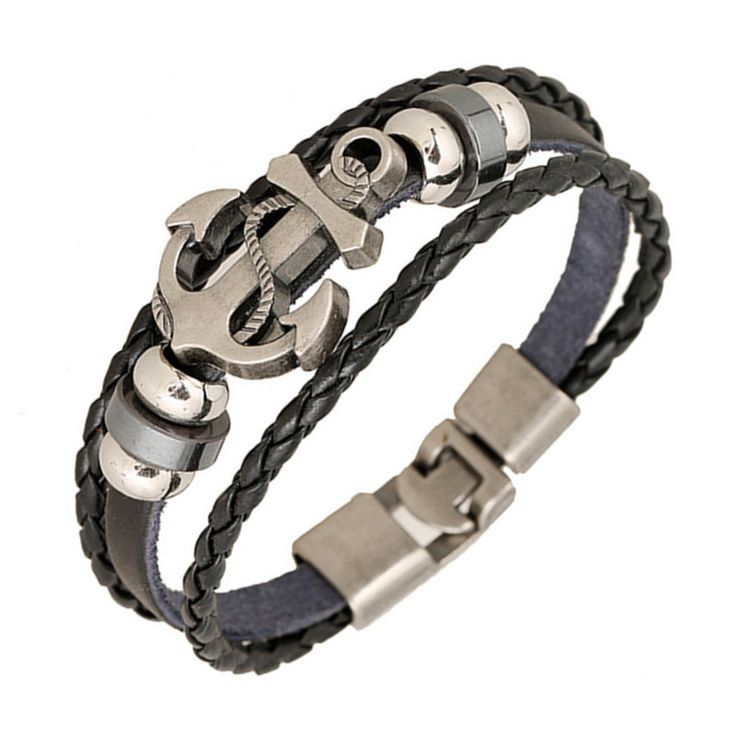 Anchor Bracelet for only $12 (FREE shipping worldwide!) Isn't it cool?  Check out https://www.bonanza.com/listings/Anchor-Bracelet-1-Unit-Casual-Alloy-Leather-Anchor-Bracelet-For-Unisex/481853479