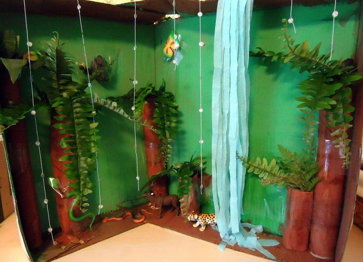 Shoebox Diorama   rainforest habitat diorama image search results