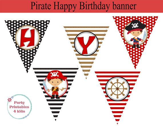 Pirate Banner Pirate Birthday Decoration Pirate Party