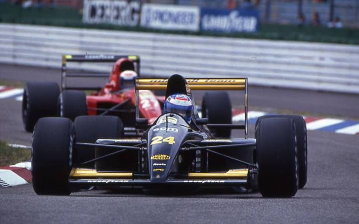 f1 Gianni Morbidelli and Alain Prost - 1991-Gianni Morbidell - Minardi M191-Alain Prost - Ferrari 643
