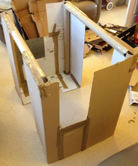 25 best ideas about cardboard playhouse on pinterest cardboard houses cardboard play and. Black Bedroom Furniture Sets. Home Design Ideas