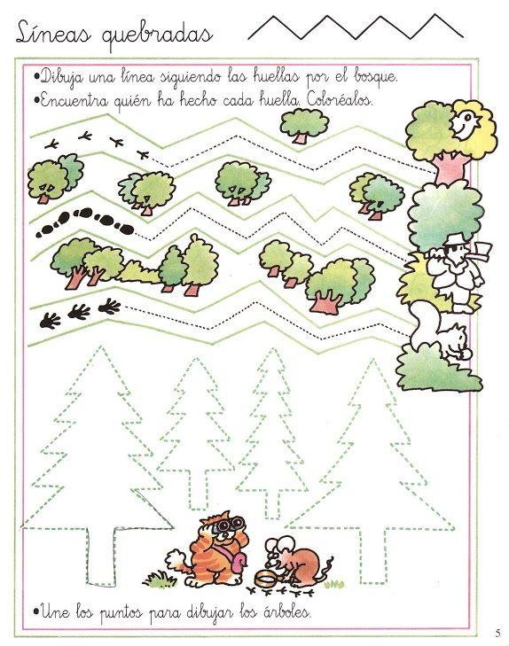schrijfoefening bos