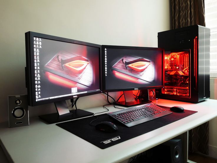 pro gamer setup pc setup pinterest the white gaming. Black Bedroom Furniture Sets. Home Design Ideas