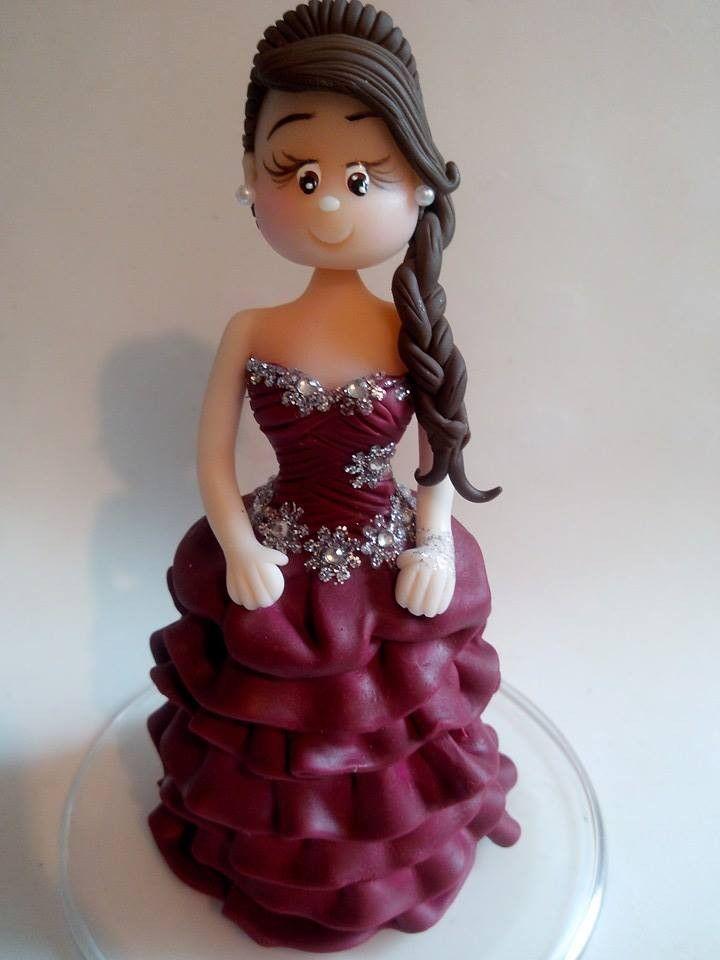 Topo de bolo debutante!