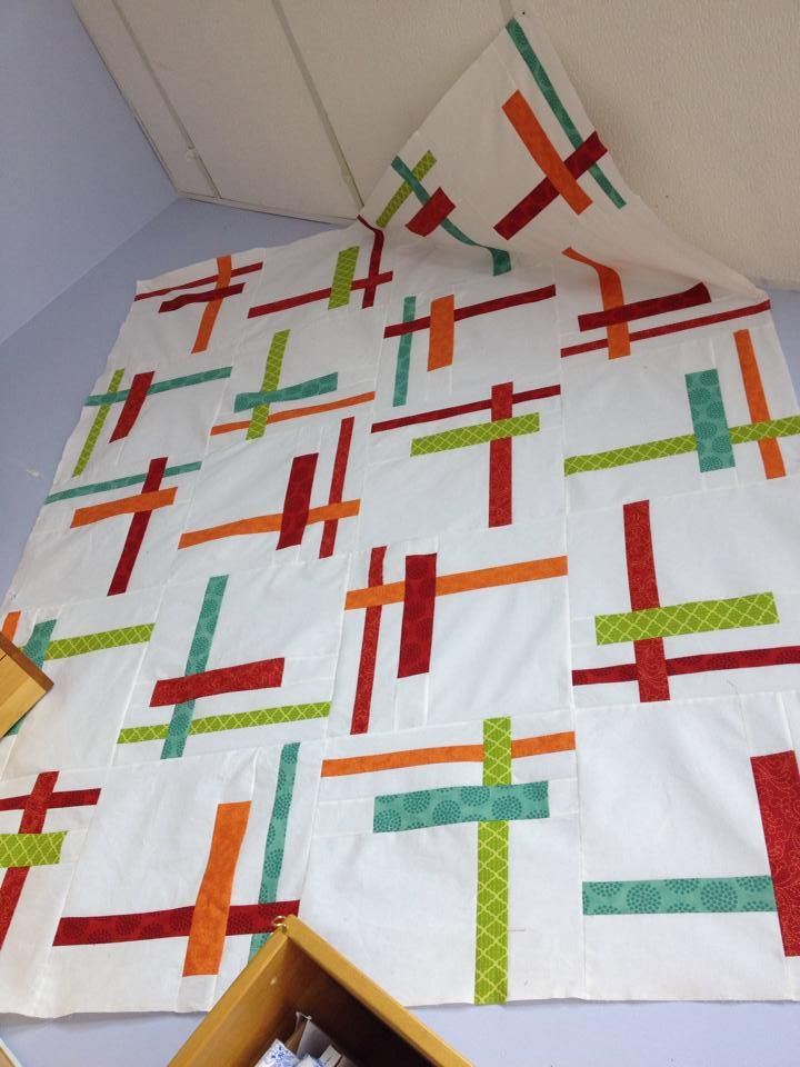 Quilt Patterns Using Strips Of Fabric : 44 Best images about Modern Quilts on Pinterest Block of the month, Patterns and Fabrics