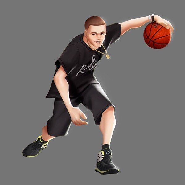 "JOYCITY_ART on Instagram: ""_ #3on3freestyle #playstation4 #ps4games #streetball #streetbasketball #freestyle3on3 #3on3 #ps4 #artwork #conceptart #theprofessor…"""