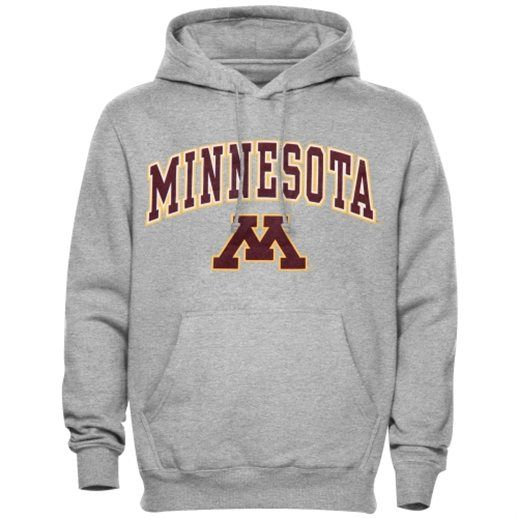 Minnesota Golden Gophers Gray Arch Over Logo Hoodie
