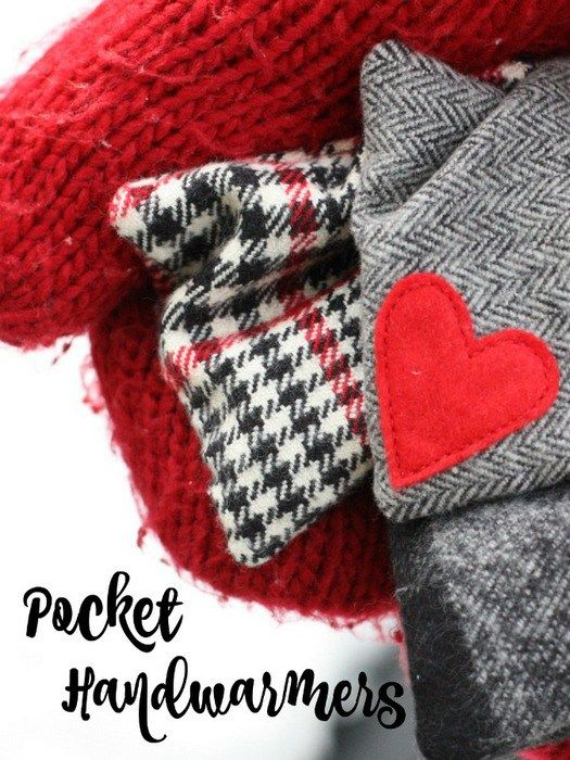 Last minute handmade gifts - fast and easy flannel and felt pocket handwarmer tutorial