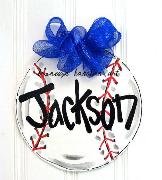 Baseball Decor - Just for Kids. $35.00, via Etsy.