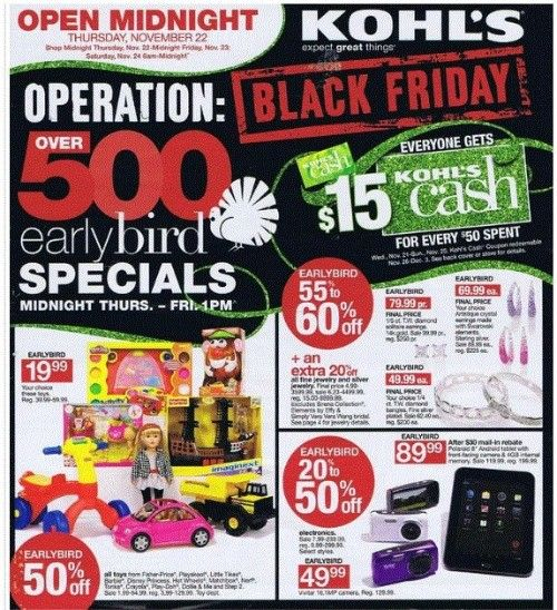 Black Friday 2012 Early Bird Specials  The following list shows the stores that are opening on Thanksgiving, Black Friday store hours, Black Friday doorbuster sales times, and stores offering Black Friday deals online on Thanksgiving.    Read more: http://www.bellenews.com/2012/11/17/world/us-news/black-friday-2012-early-bird-sales-and-store-hours/#ixzz2CUavgqI1