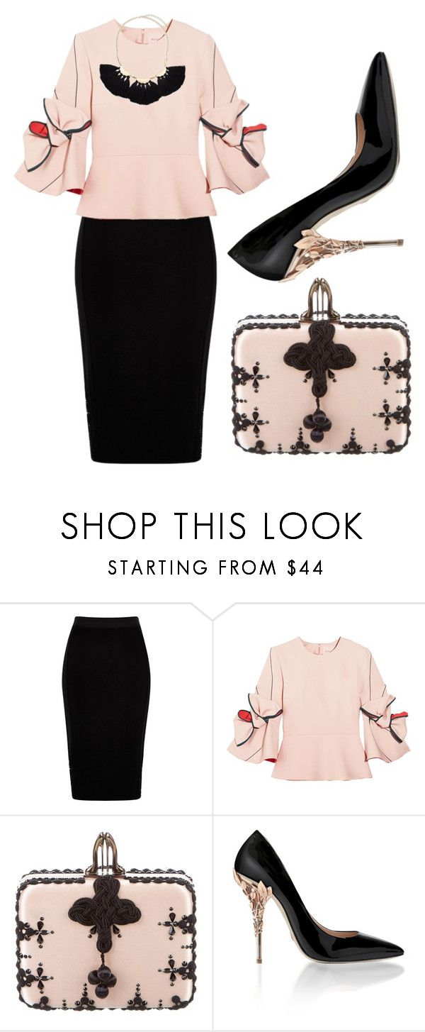 """""""Beautiful Breeze"""" by fashionforwarded ❤ liked on Polyvore featuring River Island, Roksanda, Christian Louboutin and Saks Fifth Avenue"""