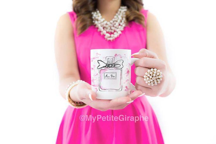 You can buy now Miss Dior Mug International Zazzle http://www.zazzle.co.uk/watercolor_mug-168603173312649217   For Romania Tshirt Factory.ro http://www.tshirt-factory.ro/fashion/miss-dior_5502/   #mug #design #mugdesign #coffee #print #sweet #cute #pink #store #zazzle #zazzlemug #diormug #dior #watercolor #perfume