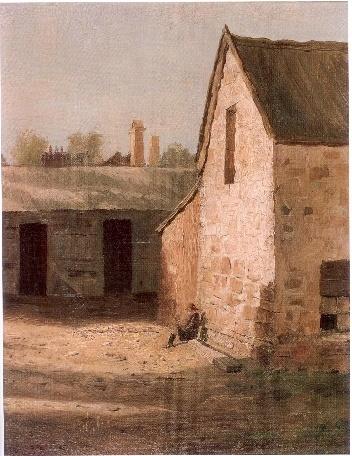 Lloyd Rees, the barnyard