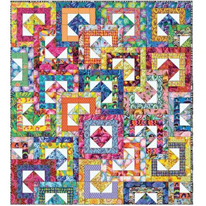 Kaffe Fassett 2017 Collective All Stacked Up Quilt Kit 64 by 72 Inches