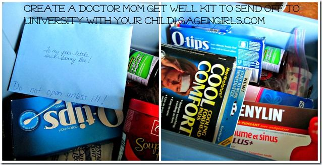 Doctor Mom's Get Well Box - a little bit of loving care for the university student away from home - GagenGirls.com
