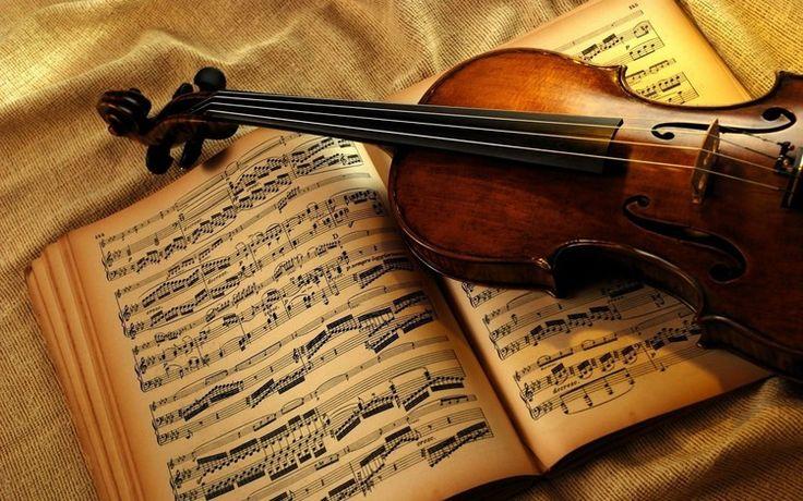 vioară, instrument muzical, note muzicale