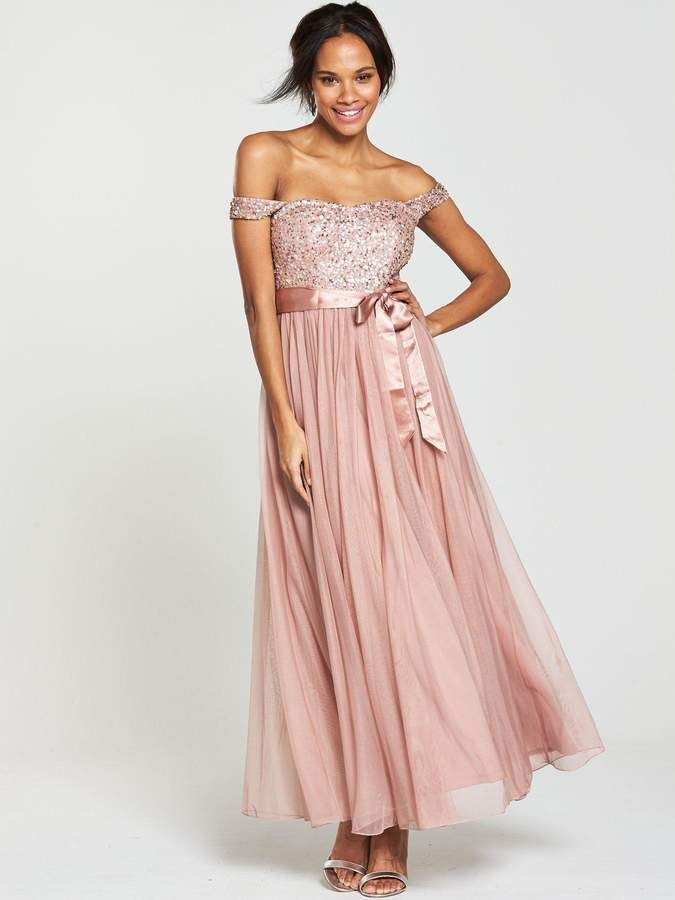 b2e589258f V by Very Embellished Bridesmaid Maxi Dress - Dusty Rose. V by Very  Bridesmaid Dress Leading ladies will look picture-perfect in this bridesmaid  dress from ...