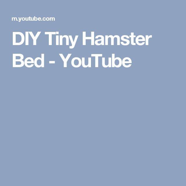 DIY Tiny Hamster Bed - YouTube