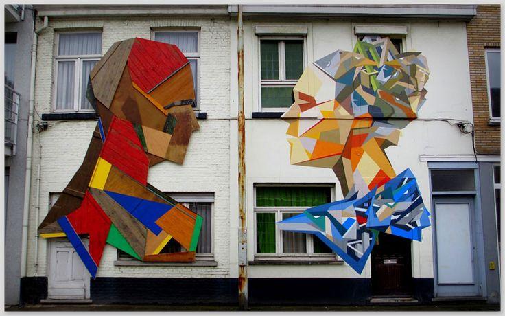 Stefaan De Croock street art from old doors
