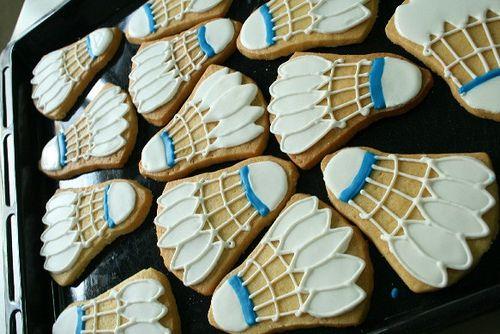 Badminton Cookies Cookies Games Sports Tv Pinterest