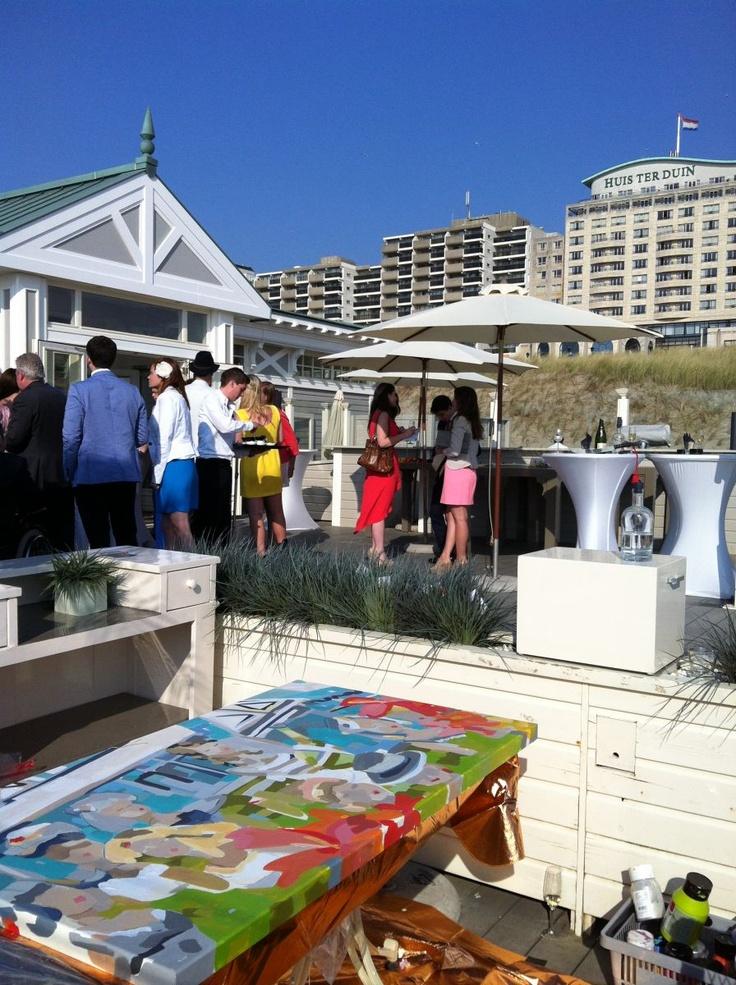 Nodig marieke bekke uit voor een feest of speciale gebeurtenis ter plekke wordt een tafereel - Idee schilderij living ...