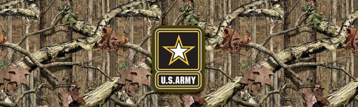 Mossy Oak Breakup Infinity with Army Logo Rear Window Graphic Part #RWG1443 | See thru Camouflage Rear Window Graphics & Camouflage Window Decals