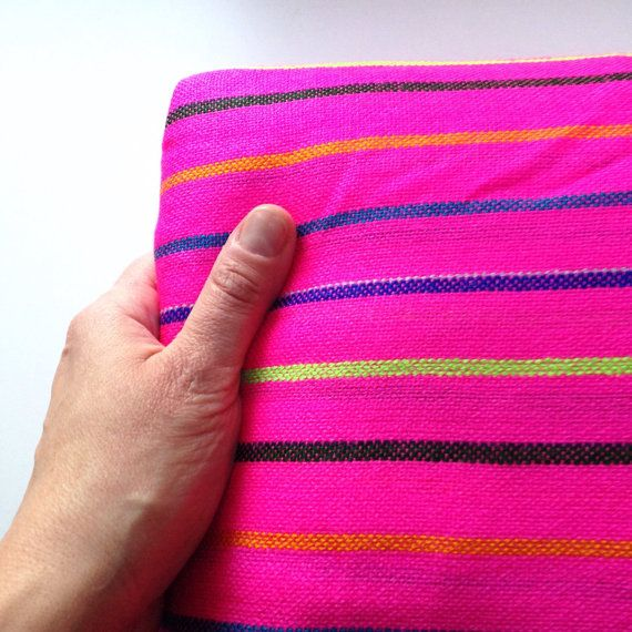 Hot Pink Mexican Fabric Thee Yard Aztec Tribal Pattern