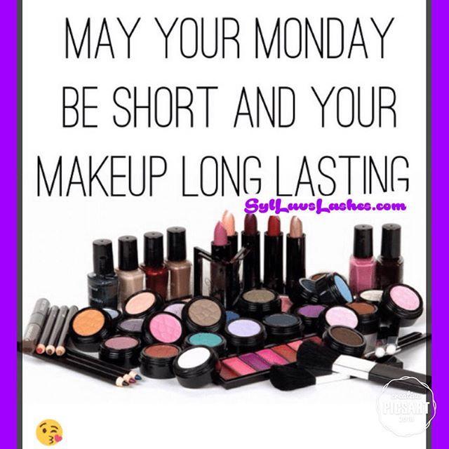 goodmorning monday makeup mascara lipstick fashion