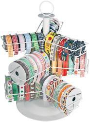 Cropper Hopper Wire Ribbon Carousel-White - Overstock™ Shopping - Big Discounts on Advantus Scrapbooking Organizers