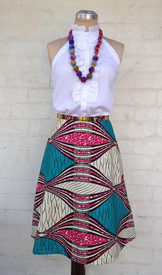 Ladies A line cotton skirt