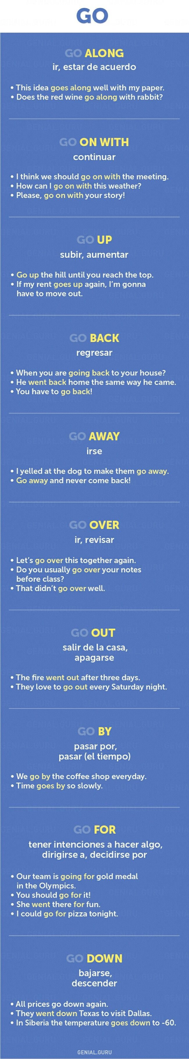 """Phrases that start with """"go"""""""
