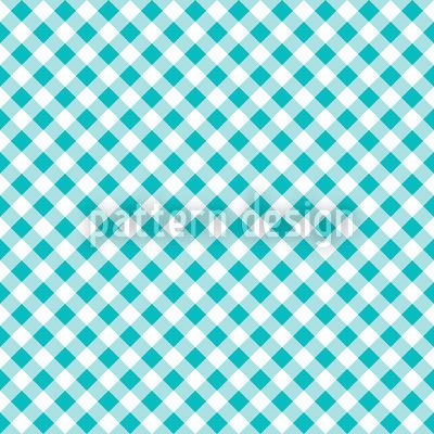 Carola - turquoise checked gingham pattern, designed by Robert Paul Laschon, available on patterndesigns.com