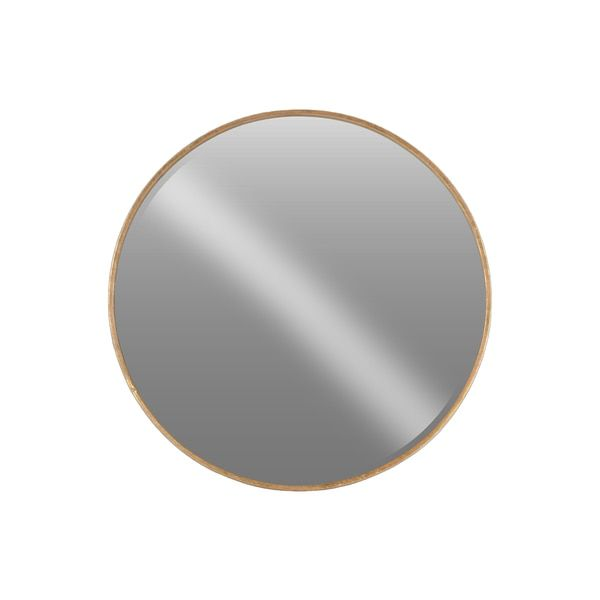 Urban Trends Collection Tarnished Antique Rose Gold Metal Round Wall Mirror| Overstock $148