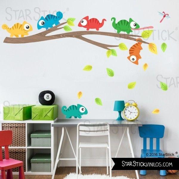 Búhos en el árbol - Vinilos infantiles