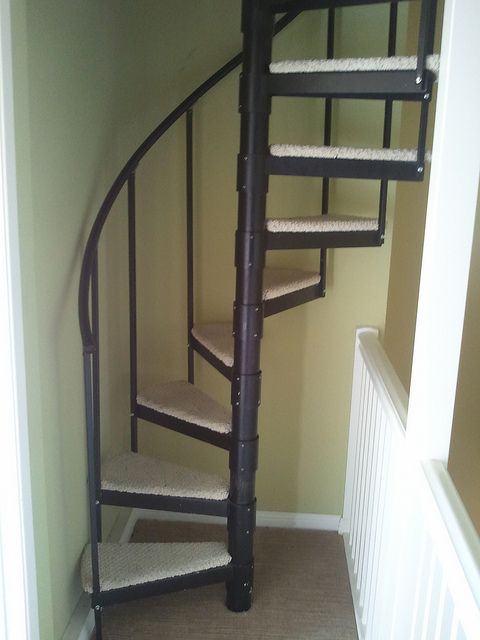 spiral stairs to man cave attic