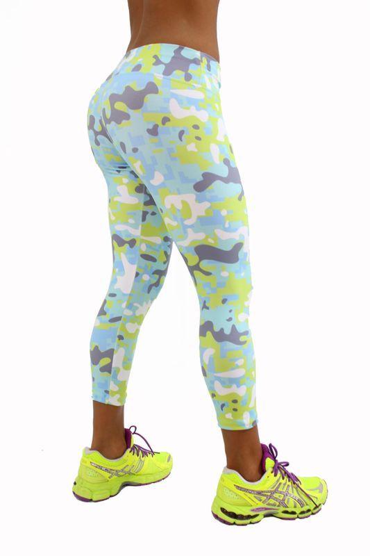 Shape Up Camo Pastel Capris,leggings capris, workout clothes for women, Fitness capris, yoga leggings capris, workout capris, Supplex capris, sexy activewear