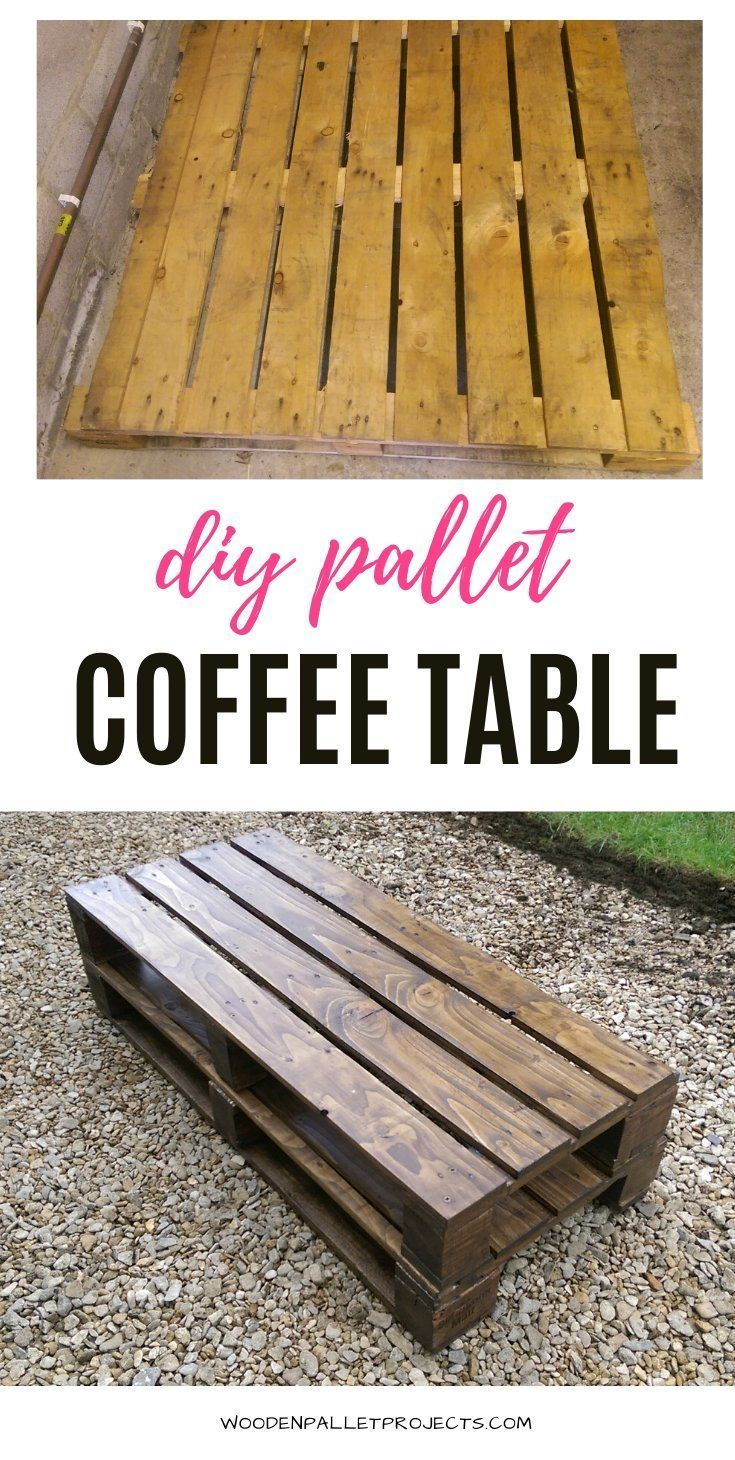 How To Build A Pallet Coffee Table Step By Diy