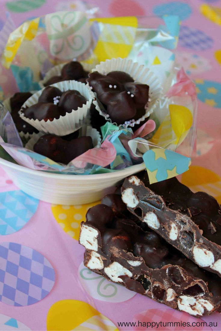 Simple, allergy free Easter rocky road. Get some more ideas on our blog!