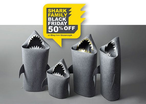 50% off. BLACK FRIDAY SALE. To get discount choose your favourite member of the family and use coupon code: BLACKFRIDAYSHARKS only until Monday 30.11.2015