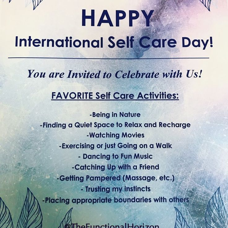 """A. Colaianni, MS, MSW, LCSW auf Instagram: """"🥳Happy International Self Care D … – Healing Therapeutic Activity"""