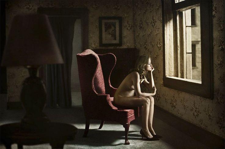 "Richard Tuschman - series ""Hopper Meditations"" (Edward Hopper - 1926, Eleven A.M.)"