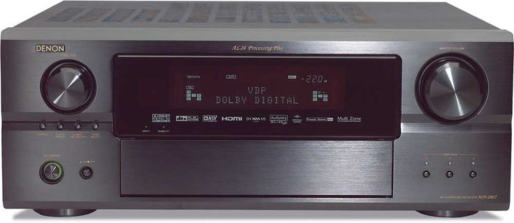 Denon designed the AVR-2807 to fill your room with enveloping, 360 home theater sound. It boasts seven channels of Denon's acclaimed high-current amplification, plus advanced processing that can