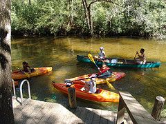 tourist attractions panama city beach florida - canoe rentals- Econfina Creek Canoe Livery