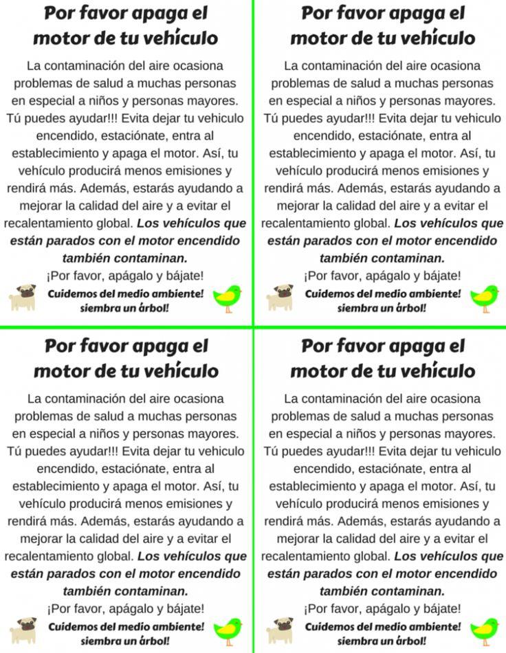 Apaga el motor de tu vehiculo, la contaminación del aire ocasiona problemas de salud, siembra un arbol, cuida del medio ambiente, no malgastes el agua. #contaminacion #mundoverde #medioambiente #naturaleza #cambioclimatico