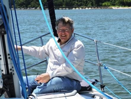 SURPRISE - Kristen Yodis of Smithfield took her dad Ed sailing along the York River on his 61st birthday, and he was dazzled by the experience.